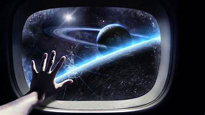 Space Window Fiction Shuttle Hand Planet Science