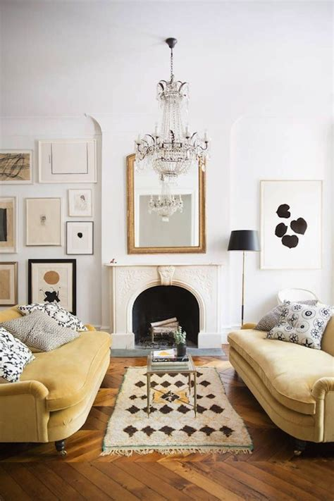 yellow sofa contemporary living room domino magazine