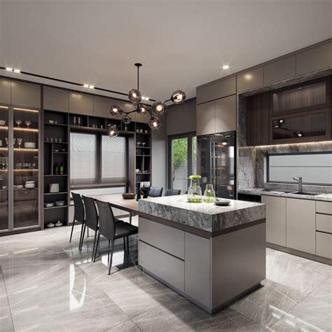 disenos de cocinas modernas grandes decoracion interiores