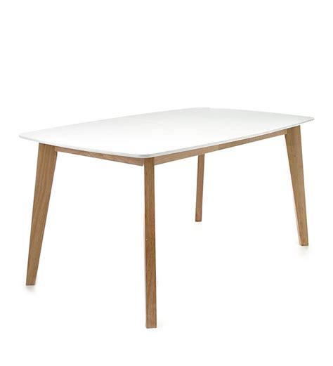 si鑒e design tavolo allungabile rettangolare design scandinavo legno massello rovere bianco opaco design si it