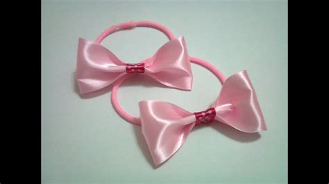 diy  rubber band hair bow  ribbon youtube