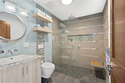 contemporary beach themed guest bathroom rhode kitchen