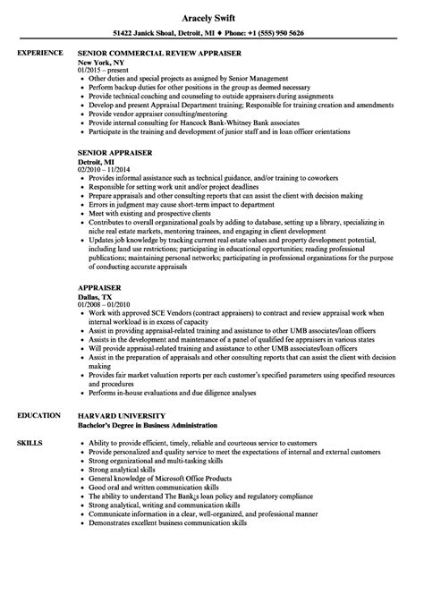 Real Estate Resume Templates by Real Estate Appraiser Resume Templates
