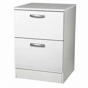 Meuble Cuisine Leroy Merlin : meuble de cuisine bas 2 tiroirs casseroliers blanc h86x ~ Melissatoandfro.com Idées de Décoration