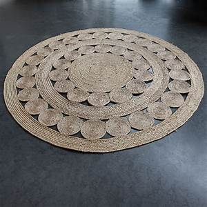 le tapis rond en jute tressee facile d39entretien et With tapis rond en jute