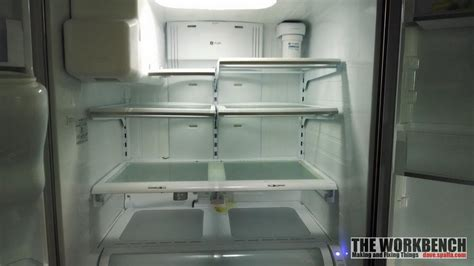 ge refrigerator pfsspkxdss water leak  deli drawer  workbench