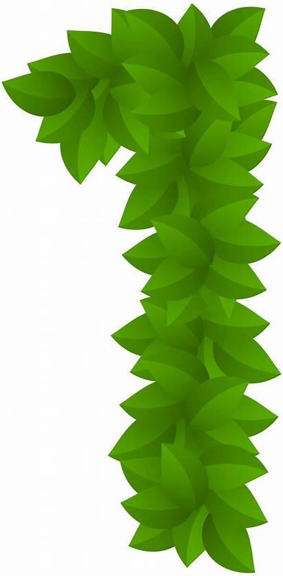 Leaf Number Clip Clipart Numbers Decorative Transparent