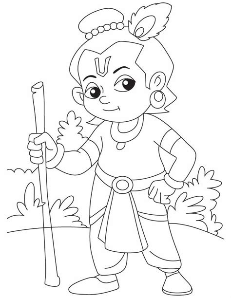 lord krishna coloring pages   krishna drawing