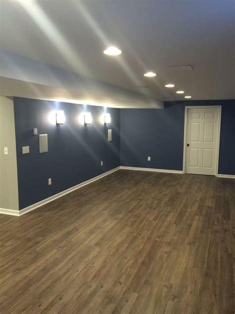 fix remodeling easton pa    basement remodel  sherwin williams denim color