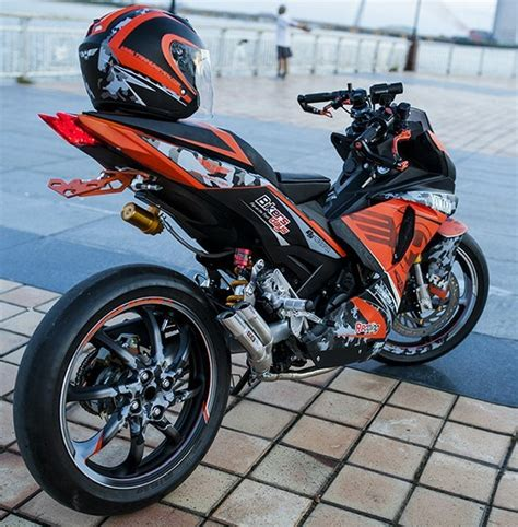 Modifikasi Mx King Warna Hitam by Exciter Mx King Modifikasi R1 7 Aripitstop