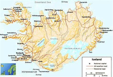iceland dimensions iceland map 1 mapsof net