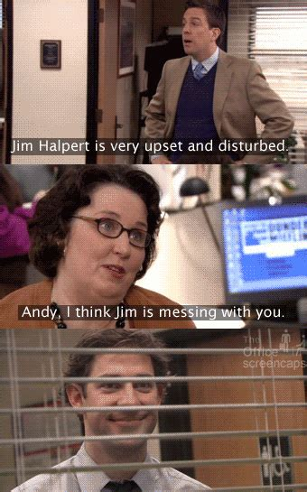 The Office Jim Teaches Andy A Lesson About Trying To