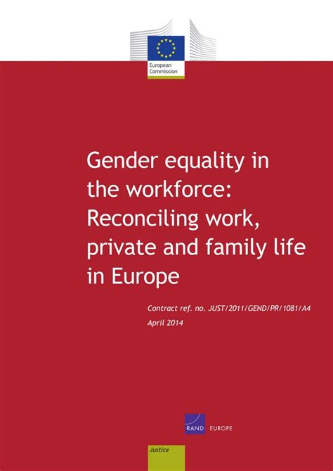 gender equality   workforce reconciling work