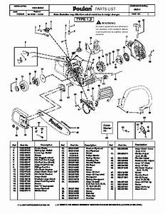 Poulan P3314 Chainsaw Parts List  2008