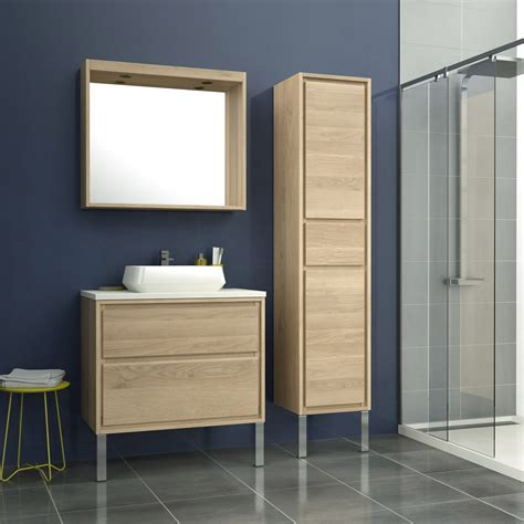 peinture meuble cuisine leroy merlin meuble de salle de bains de 80 à 99 brun marron