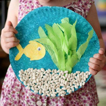 easy summer toddler crafts southern 431 | fish bowl paper plate