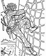 Coloring Pages Climbing Military Drill Wall Soldier Special Forces Dog Working Handler Template Colorluna sketch template