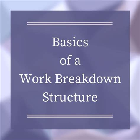 work breakdown structure examples   wbs