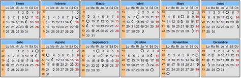 calendario lunar calendario de lunas