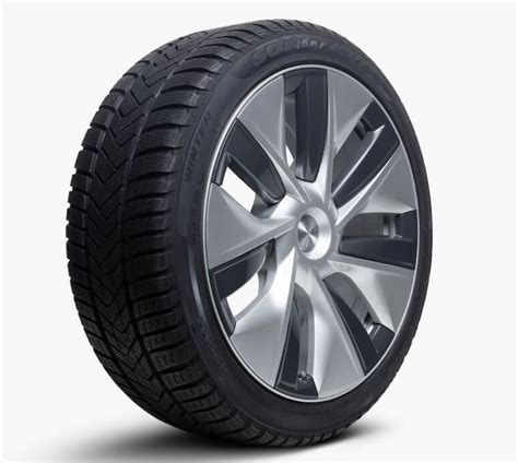 Download Tesla 3 Winter Tires Tpms Background