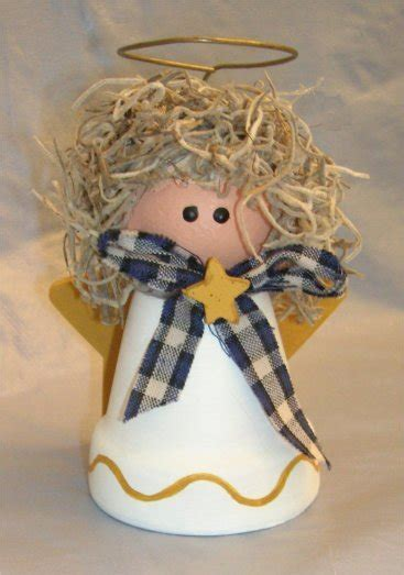 angel crafts   clay pot angel  christmas