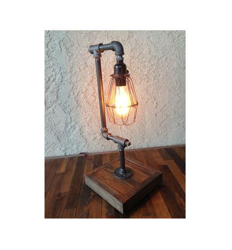 edison bulb desk l edison desk l bulb included steel pipe reclaimed wood