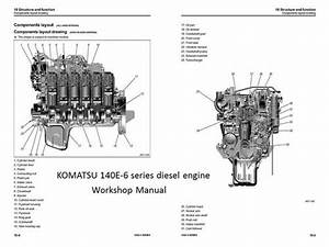 Komatsu 130  132  137  140 Engine Manuals  U0026 Parts Catalogs