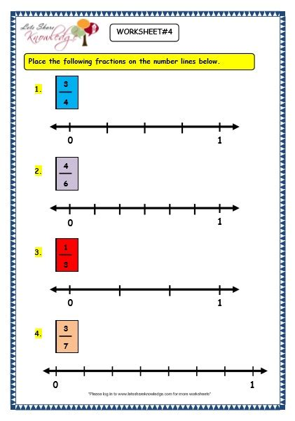 grade 3 maths worksheets 7 2 fractions on the