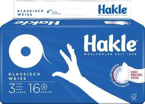 Hakle Klassisch Weiß Toilettenpapier, 3 Lagig