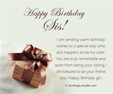 beautiful birthday messages  sister wordings  messages
