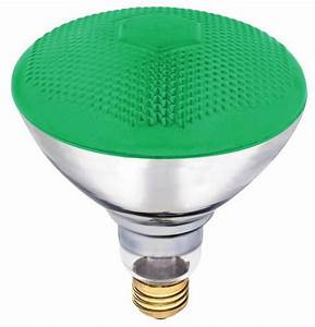 W par floodlight bulb green indoor outdoor