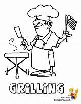 Coloring July Pages Grilling 4th Yescoloring Usa Bbq Grill Flag Colouring Barbeque Sheets Printable Rugged America American Party sketch template