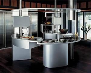 couleurs materiaux innovants la cuisine fait peau With cuisine au milieu de la piece