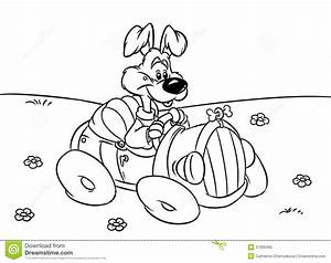 dog car driver illustration coloring pages stock With car audio design