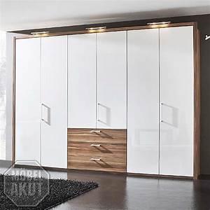 Kleiderschrank Nussbaum Weiß : kleiderschrank solo schlafzimmerschrank schrank wei hochglanz nussbaum 310 cm ebay ~ Indierocktalk.com Haus und Dekorationen