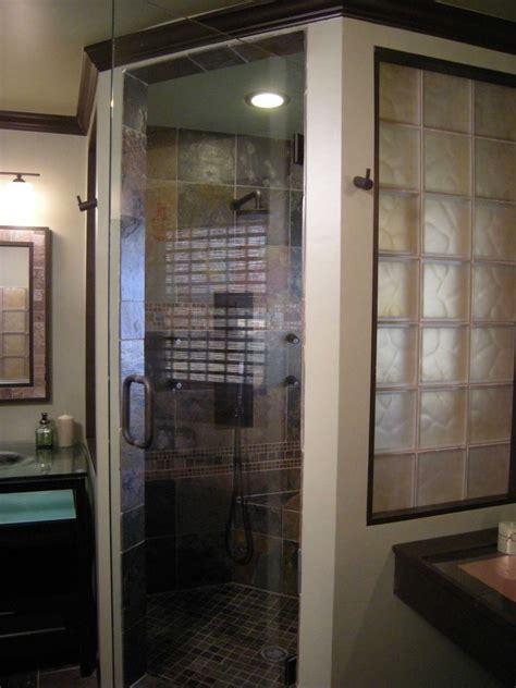 frosted glass block shower bath window shower