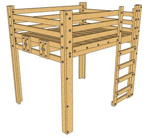 loft bed plans queen woodworking projects plans