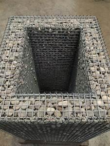 Kit A Gabion : gabion planter with lid all things stone pinterest ~ Premium-room.com Idées de Décoration