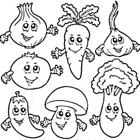 vegetable coloring page vegetable food colouring pages