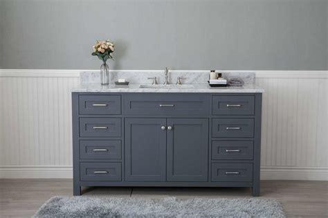 grey shaker  bathroom  drawers vanity  marble top