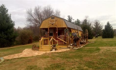 converting a shed into a cabin 300 sq ft kit shed transformed into an amazing tiny home