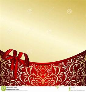 Classy Gold Background With A Red Border. Stock Vector ...