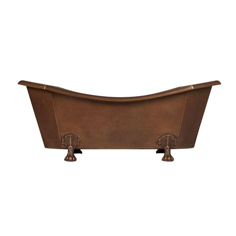 copper claw foot tub mariel eight sided hammered copper clawfoot tub bathroom
