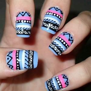 Love tribal print nails! | Nail art | Pinterest