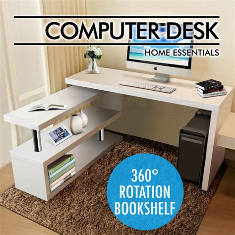 computer desk ebay australia office computer desk corner table w bookshelf study