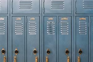 School Lockers Blue Lockers In A High School Hall By Gabriel Gabi