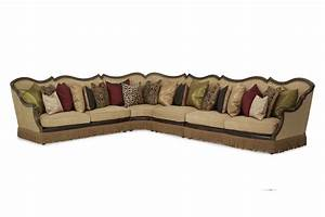 Sectional sofa victoria palace aico living room furniture for Sectional sofa victoria