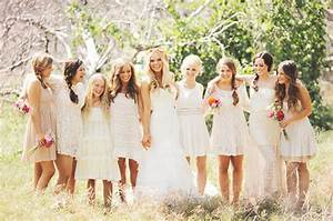 mismatched white lace boho bridesmaid dresses southbound With boho wedding bridesmaid dresses