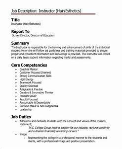 Spa Sample Format Free 8 Sample Esthetician Job Description Templates In Ms