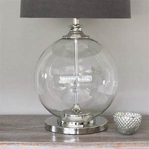 glass ball table lamp and grey shade by primrose plum With 4 ball table lamp